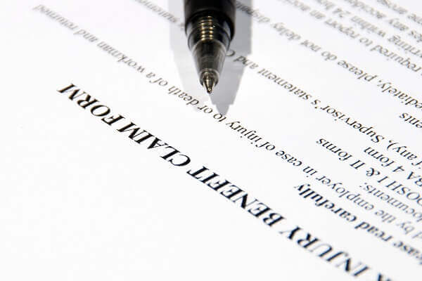 personal injury case form