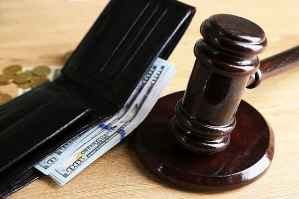 gavel and wallet
