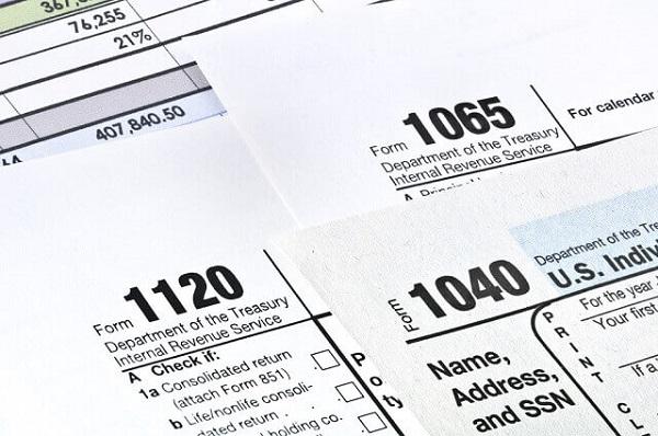 IRS 1040 form