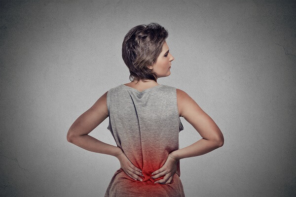 woman with spinal pain